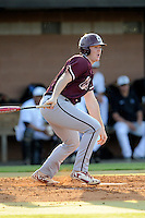 First baseman Nick Pappas (11) of the College of Charleston Cougars bats in a game against the University of South Carolina Upstate Spartans on Tuesday, March 31, 2015, at Cleveland S. Harley Park in Spartanburg, South Carolina. Charleston won, 10-0. (Tom Priddy/Four Seam Images)