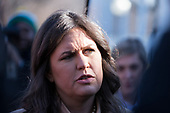 White House Press Secretary Sarah Huckabee Sanders speaks with reporters on the West Wing Driveway at the White House in Washington, D.C. on December 21st, 2017. Credit: Alex Edelman / CNP