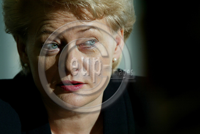 BRUSSELS - BELGIUM - 17 MARCH 2005 --Dalia GRYBAUSKAITE (Grybauskait) EU Commissioner for Financial Programming and Budget.--  PHOTO: ERIK LUNTANG / EUP-IMAGES