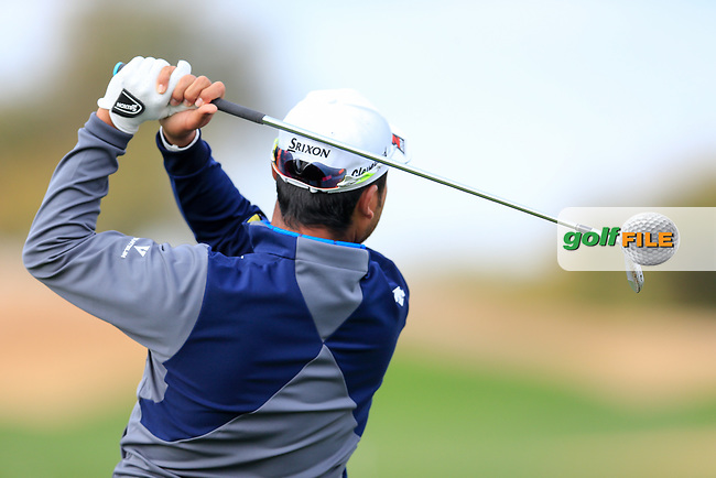 Hideki Matsuyama (JPN) during the preview round of the Waste Management Phoenix Open, TPC Scottsdale, Scottsdale, Arisona, USA. 30/01/2019.<br /> Picture Fran Caffrey / Golffile.ie<br /> <br /> All photo usage must carry mandatory copyright credit (© Golffile | Fran Caffrey)