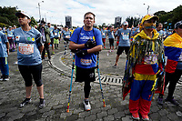 BOGOTÁ -COLOMBIA, 29-07-2018: Aspecto de los participantes en la media maratón de Bogotá 2018, mmB. Con sus tradicionales 21km, en esta ocasión el ganador en elite varones fue Betesfa Getahun de Etiopia, con un tiempo de 1h 05m 08s, y en elite mujeres Netsanet Gudeta de Etiopia con un tiempo de 1h 11m 34s. / Aspect of the people during the half marathon of Bogota 2018, mmB. With its 21Km in this edition the winner was Betesfa Getahun of Ethiopia in elite men category with a time of 1h 05m 08s, and in elite women the winner was Netsanet Gudeta of Ethiopia with a time of 1h 12m 16s. Photo: VizzorImage / Diego Cuevas / Cont