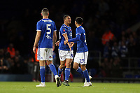 Andre Dozzell of Ipswich Town is congratulated after scoring the first Ipswich goal during Ipswich Town vs Lincoln City, Emirates FA Cup Football at Portman Road on 9th November 2019