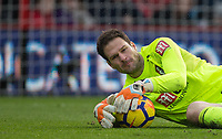 Goalkeeer Asmir Begovic of AFC Bournemouth during the Premier League match between Bournemouth and Arsenal at the Goldsands Stadium, Bournemouth, England on 14 January 2018. Photo by Andy Rowland.