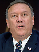 United States Representative Mike Pompeo (Republican of Kansas) testifies before the US Senate Select Committee on Intelligence during a confirmation hearing on his nomination to be Director of the Central Intelligence Agency (CIA) on Capitol Hill in Washington, DC on Thursday, January 12, 2017.<br /> Credit: Ron Sachs / CNP