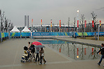 La piazza e lo stadio olimpico a Torino durante le olimpiadi invernali 2006...The olympic square and the olympic stadium in Torino during the Olympic Games 2006...March 2006...Ph. Marco Saroldi/Pho-to.it