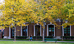 Fall colors blanket DePaul's Lincoln Park Campus Thursday, Oct. 25, 2013. (Photo by Jamie Moncrief)