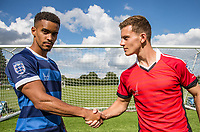 Paris Cowan-Hall & Dom Gape during the PEAK Elite Sportswear Photoshoot at Wycombe Training Ground, High Wycombe, England on 1 August 2017. Photo by PRiME Media Images.