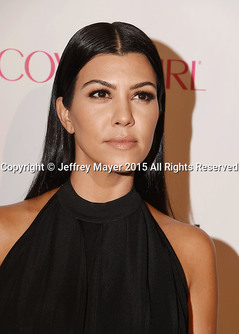 WEST HOLLYWOOD, CA - OCTOBER 12: TV personality Kourtney Kardashian arrives at Cosmopolitan Magazine's 50th Birthday Celebration at Ysabel on October 12, 2015 in West Hollywood, California.