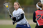 GER - Mainz, Germany, March 20: During the 1. Bundesliga Damen lacrosse match between Mainz Musketeers (white) and SC Frankfurt 1880 (red) on March 20, 2016 at Sportgelaende Dalheimer Weg in Mainz, Germany. Final score 7-12 (HT 3-5). (Photo by Dirk Markgraf / www.265-images.com) *** Local caption ***