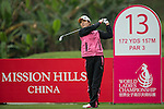 Song Yi Ahn of South Korea tees off at the 13th hole during Round 2 of the World Ladies Championship 2016 on 11 March 2016 at Mission Hills Olazabal Golf Course in Dongguan, China. Photo by Victor Fraile / Power Sport Images