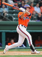 May 11, 2009: Outfielder Jeff Schaus (3) of the Clemson Tigers in a game against the Furman Paladins at Fluor Field at the West End in Greenville, S.C. Photo by: Tom Priddy/Four Seam Images