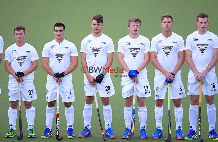 The Black Sticks line up before the international men's hockey match between the NZ Black Sticks and Pakistan at National Hockey Stadium in Wellington, New Zealand on Monday, 20 March 2017. Photo: Dave Lintott / lintottphoto.co.nz