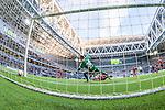 Stockholm 2014-05-04 Fotboll Superettan Hammarby IF - IFK V&auml;rnamo :  <br /> Hammarbys Pablo Pinones-Arce g&ouml;r 2-1 bakom V&auml;rnamos Bj&ouml;rn &Aring;kesson <br /> (Foto: Kenta J&ouml;nsson) Nyckelord:  Superettan Tele2 Arena Hammarby HIF Bajen V&auml;rnamo remote remotekamera
