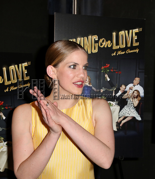 Anna Chlumsky attends the Broadway Opening Night Performance After Party for 'Living on Love' at Sardi's on April 20, 2015 in New York City.