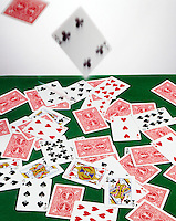 PLAYING CARDS: THROWN ON TO TABLE<br />