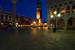 Night shot St Marks square.Venice Italy