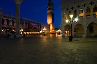Night shot St Marks square.Venice Italy