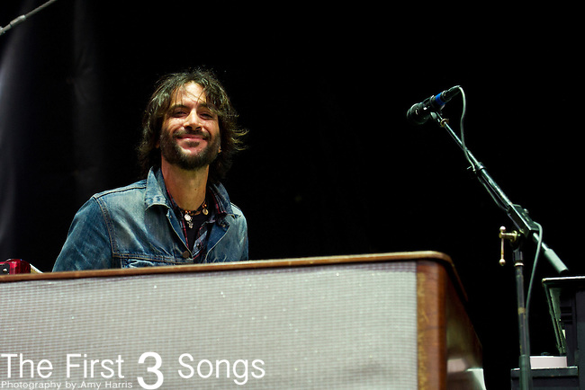 Rami Jaffee of The Wallflowers performs during the The Beale Street Music Festival in Memphis, Tennessee.
