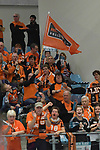 10.02.2018, Hamburg GER, VBL, SVG Lueneburg vs Berlin Recycling Volleys, im Bild Feature die Berliner Fans jubeln/ Foto © nordphoto / Witke