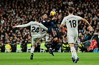Real Madrid's Dani Ceballos and Valencia CF's Francis Coquelin during La Liga match between Real Madrid and Valencia CF at Santiago Bernabeu Stadium in Madrid, Spain. December 01, 2018. (ALTERPHOTOS/A. Perez Meca) /NortePhoto NORTEPHOTOMEXICO