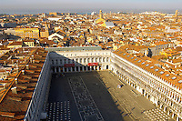 Arial View of  Of Saint Mark's Square - Venice Italy.