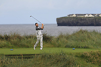 Liam Grehan (Mullingar) on the 4th tee during Matchplay Round 1 of the South of Ireland Amateur Open Championship at LaHinch Golf Club on Friday 22nd July 2016.<br /> Picture:  Golffile | Thos Caffrey<br /> <br /> All photos usage must carry mandatory copyright credit   (© Golffile | Thos Caffrey)