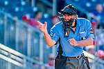 30 July 2017: MLB Umpire Mike Winters works home plate during a game between the Washington Nationals and the Colorado Rockies at Nationals Park in Washington, DC. The Rockies defeated the Nationals 10-6 in the second game of their 3-game weekend series. Mandatory Credit: Ed Wolfstein Photo *** RAW (NEF) Image File Available ***