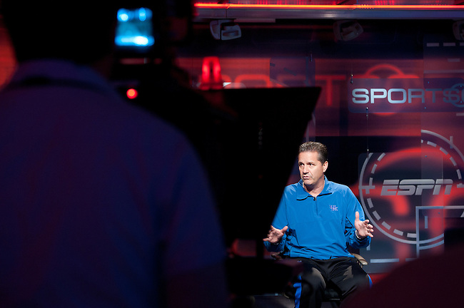 November  18, 2011 - Bristol, CT - :  University of Kentucky Men's Basketball Coach John Calipari..Credit: Joe Faraoni/ESPN