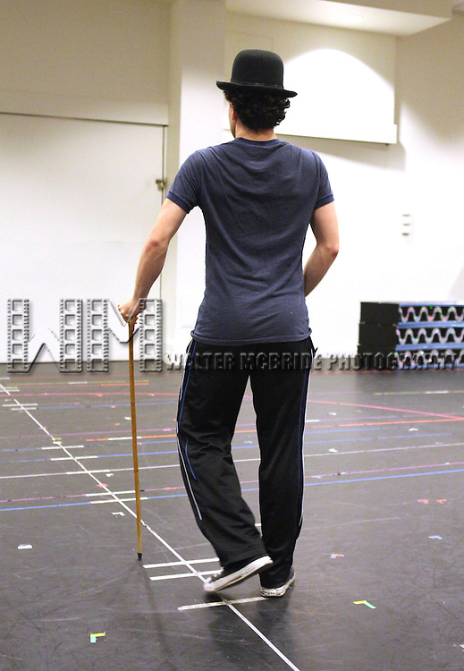 Rob McClure.performing in the Press Preview of the New Broadway Show 'Chaplin The Musical'  at Foxwoods Theater Rehearsal Studios on August 7, 2012 in New York City.