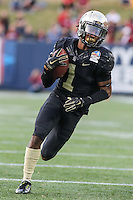 Annapolis, MD - December 27, 2016: Wake Forest Demon Deacons wide receiver Tabari Hines (1) in action during game between Temple and Wake Forest at  Navy-Marine Corps Memorial Stadium in Annapolis, MD.   (Photo by Elliott Brown/Media Images International)