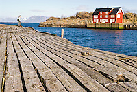 Waterfront of abandoned factory, Stamsund, Lofoten, Norway