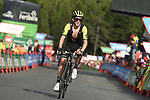 Adam Yates (GBR) Mitchelton-Scott approaches the finish line at the end of Stage 19 of the La Vuelta 2018, running 154.4km from Lleida to Andorra, Naturlandia, Andorra. 14th September 2018.                   <br /> Picture: Colin Flockton | Cyclefile<br /> <br /> <br /> All photos usage must carry mandatory copyright credit (© Cyclefile | Colin Flockton)