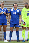 21 August 2015: Duke's Christina Gibbons. The Duke University Blue Devils played the Fresno State Bulldogs at Fetzer Field in Chapel Hill, NC in a 2015 NCAA Division I Women's Soccer game. Duke won the game 5-0.