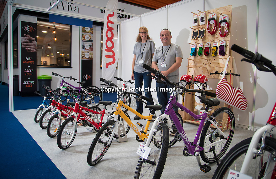 27/09/18<br /> <br /> ***Free photo for social media use***<br /> <br /> Woom Bikes stand at the Cycle Show, NEC, Birmingham<br /> <br /> <br /> All Rights Reserved, F Stop Press Ltd. (0)1335 344240 +44 (0)7765 242650  www.fstoppress.com rod@fstoppress.com