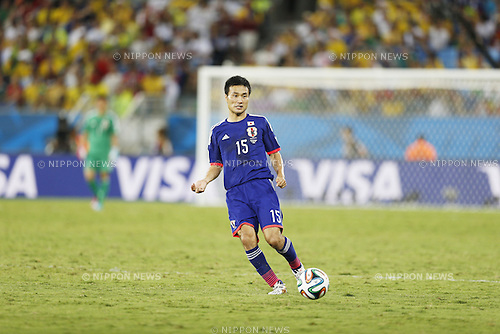 Yasuyuki Konno (JPN), JUNE 24, 2014 - Football / Soccer : FIFA World Cup Brazil 2014 Group C match between Japan 1-4 Colombia at the Arena Pantanal in Cuiaba, Brazil. (Photo by AFLO)