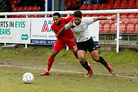 O's Lemar Reynolds & Josh Passley during Dover Athletic vs Leyton Orient, Vanarama National League Football at the Crabble Athletic Ground on 3rd March 2018