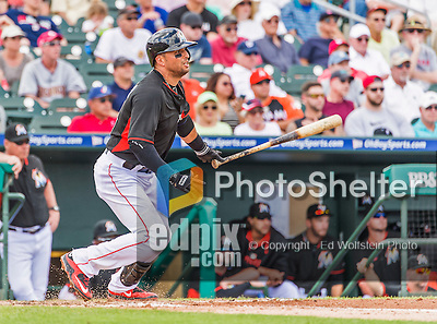 10 March 2015: Miami Marlins infielder Martin Prado in Spring Training action against the Washington Nationals at Roger Dean Stadium in Jupiter, Florida. The Marlins edged out the Nationals 2-1 in Grapefruit League play. Mandatory Credit: Ed Wolfstein Photo *** RAW (NEF) Image File Available ***