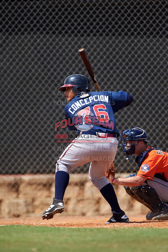 Atlanta Braves Anthony Concepcion (76) during an Instructional League game against the Houston Astros on September 26, 2016 at Osceola County Stadium Complex in Kissimmee, Florida.  (Mike Janes/Four Seam Images)