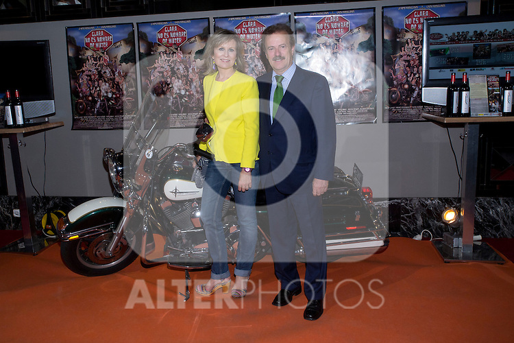 "30.05.2012. Premiere at the Callao Cinema in Madrid of the spanish movie ""Clara is not woman's name"" A comedy directed by Pepe Carbajo. In the image Estrella Zapatero and  Manuel Campo Vidal (Alterphotos/Marta Gonzalez)"
