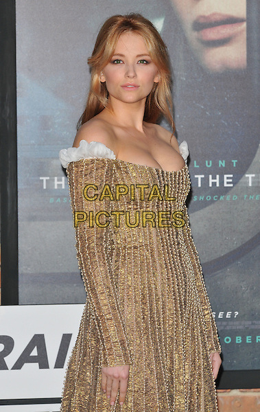Haley Bennett at the &quot;The Girl on the Train&quot; world film premiere, Odeon Leicester Square cinema, Leicester Square, London, England, UK, on Tuesday 20 September 2016.<br /> CAP/CAN<br /> &copy;CAN/Capital Pictures