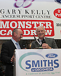 Comedian Alan Short with Giovanni Trapattoni at the Launch of the Monster Car Draw in aid of the Gary Kelly Centre at Smiths Garage....Photo NEWSFILE/Jenny Matthews.