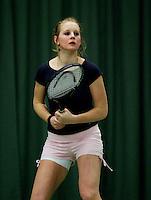 10-3-06, Netherlands, tennis, Rotterdam, National indoor junior tennis championchips, Bibianne de Zwart