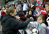USA'a Rachel Buehler after the Algarve Women's Cup soccer match at Algarve stadium in Faro, March 13, 2013.  .