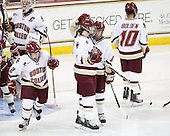 Kristina Brown (BC - 2), Taylor Wasylk (BC - 9), Meagan Mangene (BC - 24), Blake Bolden (BC - 10) - The Boston College Eagles defeated the Harvard University Crimson 3-1 to win the 2011 Beanpot championship on Tuesday, February 15, 2011, at Conte Forum in Chestnut Hill, Massachusetts.
