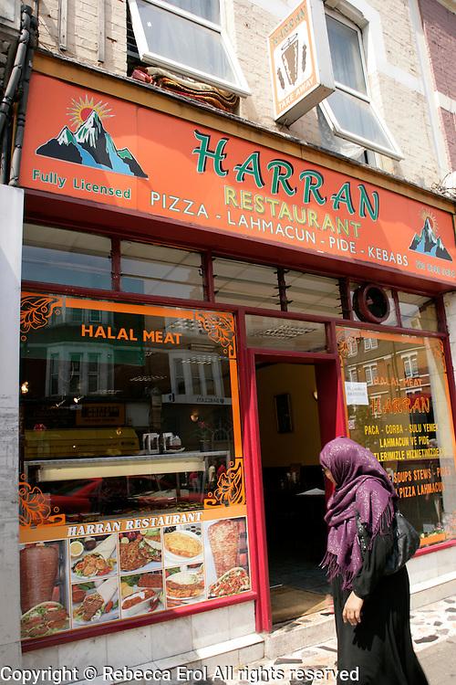 Harran restaurant on Green Lanes in Haringey, London, UK
