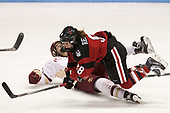 Serena Sommerfield (BC - 3), Andrea Renner (NU - 8) - The Boston College Eagles defeated the Northeastern University Huskies 2-1 to win the Beanpot on Monday, February 7, 2017, at Matthews Arena in Boston, Massachusetts.