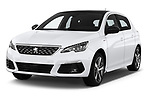 2018 Peugeot 308 GT Line 5 Door Hatchback angular front stock photos of front three quarter view