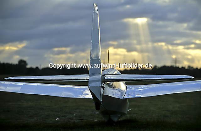 Segelflugzeug, Segelflug, Ka 13, Boberg, Startbereit, Leitwerk, Gemischtbauweise