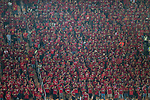 Guangzhou Evergrande fans during the AFC Champions League 2017 Quarter-Finals match between Guangzhou Evergrande (CHN) vs Shanghai SIPG (CHN) at the Tianhe Stadium on 12 September 2017 in Guangzhou, China. Photo by Marcio Rodrigo Machado / Power Sport Images