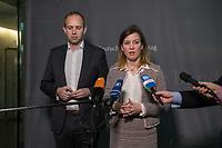 5. Sitzung des Unterausschusses des Verteidigungsausschusses des Deutschen Bundestag als 1. Untersuchungsausschuss am Donnerstag den 21. Maerz 2019.<br /> In dem Untersuchungsausschuss soll auf Antrag der Fraktionen von FDP, Linkspartei und Buendnis 90/Die Gruenen der Umgang mit externer Beratung und Unterstuetzung im Geschaeftsbereich des Bundesministeriums fuer Verteidigung aufgeklaert werden. Anlass der Untersuchung sind Berichte des Bundesrechnungshofs ueber Rechts- und Regelverstoesse im Zusammenhang mit der Nutzung derartiger Leistungen.<br /> Einziger Tagesordnungspunkt war die Konstituierung des Unterausschusses als Untersuchungsausschuss.<br /> Im Bild: Dennis Rohde und Siemtje Moeller, von der SPD-Fraktion.<br /> 14.2.2019, Berlin<br /> Copyright: Christian-Ditsch.de<br /> [Inhaltsveraendernde Manipulation des Fotos nur nach ausdruecklicher Genehmigung des Fotografen. Vereinbarungen ueber Abtretung von Persoenlichkeitsrechten/Model Release der abgebildeten Person/Personen liegen nicht vor. NO MODEL RELEASE! Nur fuer Redaktionelle Zwecke. Don't publish without copyright Christian-Ditsch.de, Veroeffentlichung nur mit Fotografennennung, sowie gegen Honorar, MwSt. und Beleg. Konto: I N G - D i B a, IBAN DE58500105175400192269, BIC INGDDEFFXXX, Kontakt: post@christian-ditsch.de<br /> Bei der Bearbeitung der Dateiinformationen darf die Urheberkennzeichnung in den EXIF- und  IPTC-Daten nicht entfernt werden, diese sind in digitalen Medien nach §95c UrhG rechtlich geschuetzt. Der Urhebervermerk wird gemaess §13 UrhG verlangt.]